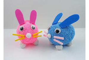 클레이 달걀공예 토끼 5인set(달걀모형10개)/